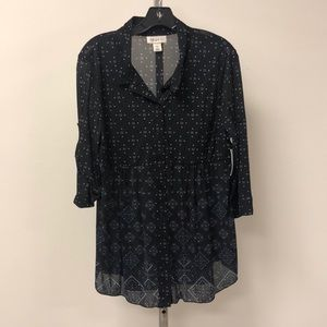 NWT Style & Co Petite Black Patterned Tunic